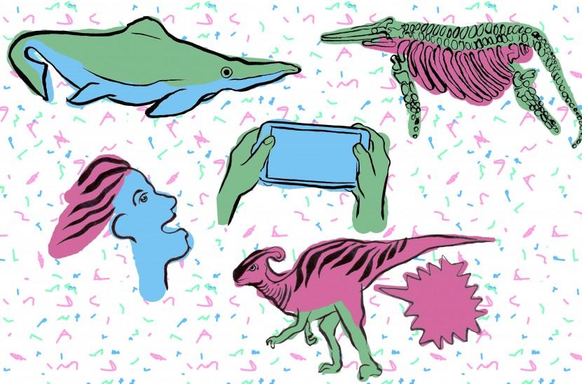 'Family Fun Art Day' illustration for Shonisaurus Popularis
