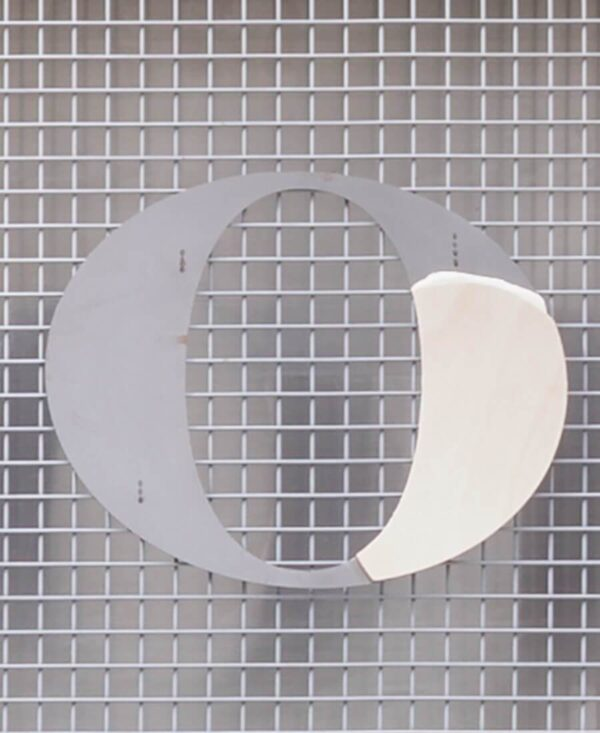 strange loop letter 'O' with plywood layer