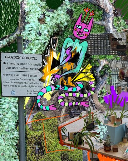 an illustrated beast in croydon