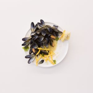 mussels displayed on a dish