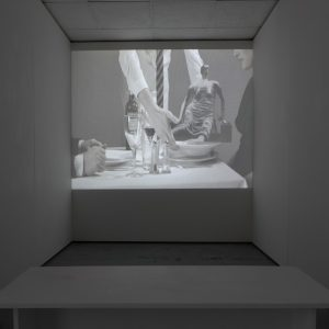 Bruce McLean Soup (A Concept Consommé), 2010 High definition video, colour, sound 5 minutes Courtesy of Bernard Jacobson Gallery, London  Photo: Tim Bowditch