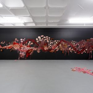 """Installation views of Karnika Saatchi """"Indiscernible"""" for TURF X Croydon School of Art residency exhibition at TURF Projects"""