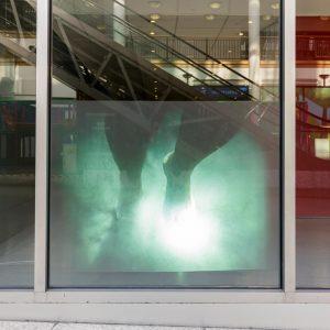 Finding our private worlds/ private pleasures; Fatma Unal & Deniz Unal; video, 4 mins; window installation; 2018  Photo credit: Tim Bowditch