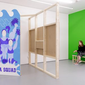 Installation views of You're Surrounded by Me at Turf Projects