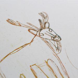 drawing of a reindeer