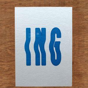 'ING' (Turf Team Fungus Press Residency)