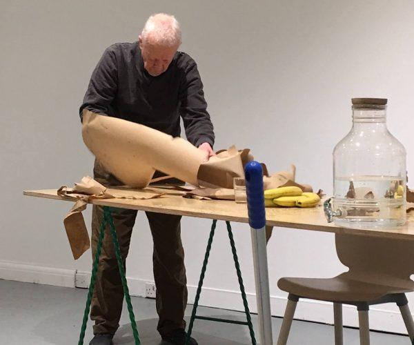 'Interregnum', Stuart Brisley - in progress